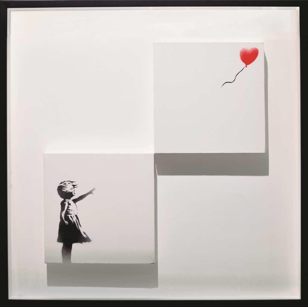 《風船と少女》/ バンクシー (2006) 個人蔵