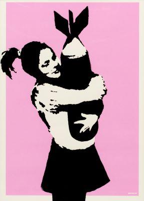 バンクシー 《Bomb Love (Bomb Hugger)》