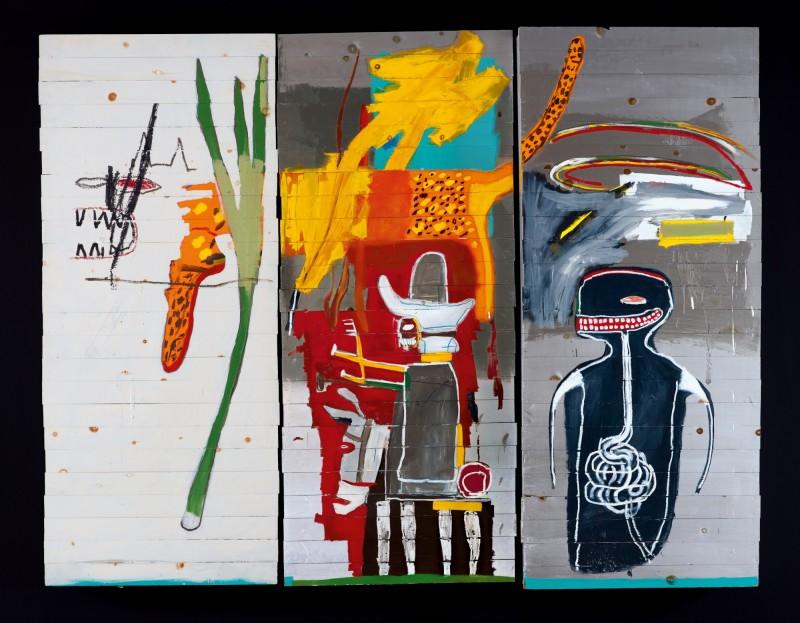 サザビーズオークションで落札額1位となった《Untitled》/ ジャン=ミシェル・バスキア 画像引用:https://www.sothebys.com/