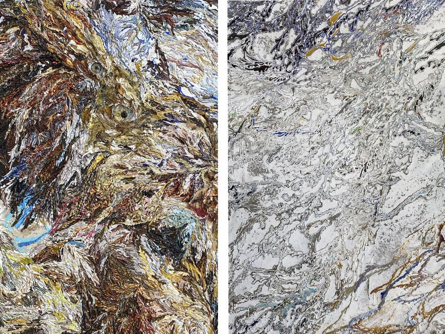 ≪world of entanglement birdman≫ /高山夏希 (2021) 部分 「HUMANITY展」(Rikka Gallery) 筆者撮影