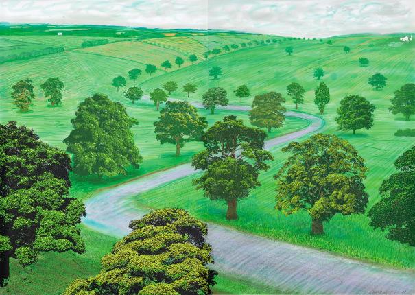 《A Bigger Green Valley》 / デイヴィット・ホックニー 画像引用:https://www.phillips.com/
