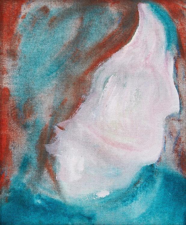 約14,000倍の価値のついたデヴィッド・ボウイの絵画≪DHead XLVI≫ 。画像引用:https://cowleyabbott.ca/
