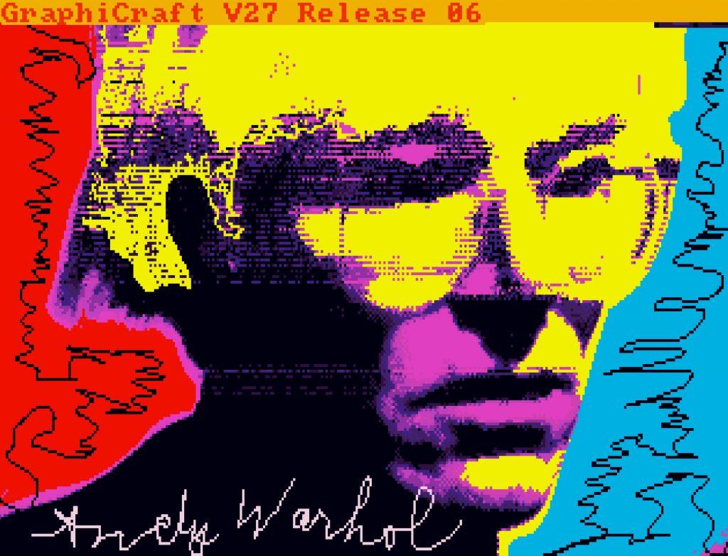 Andy Warhol, Untitled (Self-Portrait) (ca. 1985k, minted as an NFT in 2021).©The Andy Warhol Foundation. (画像引用:https://news.artnet.com/)