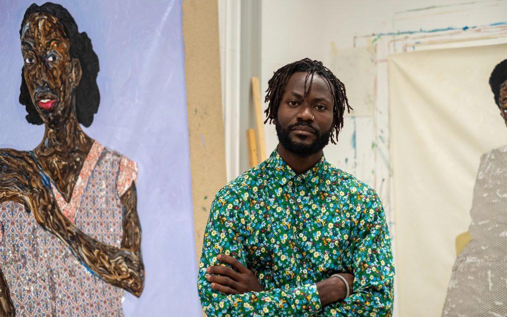 ガーナ出身、ウィーン在住の画家・Amoako Boafoの肖像